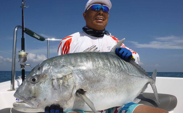 He has caught another GT Sri Lanka Fishing Report