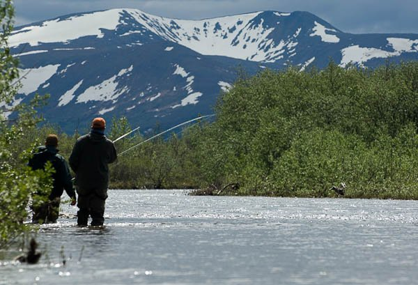 Alaska West Lodge New destination The river at alaska west is perfect for fly fishing for all species of salmon