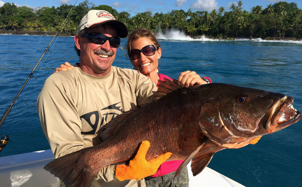 Costa Rica Fishing Report of a huge Cubera Snapper