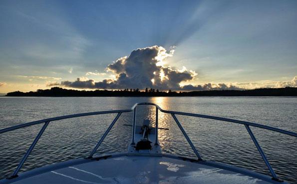 Sunrise over the lodge Costa Rica Fishing Report