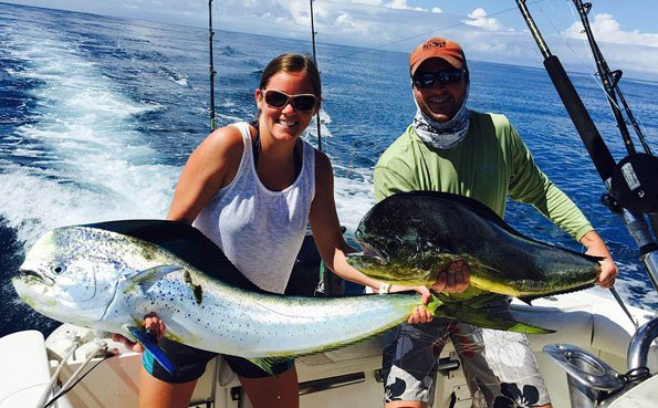 Costa Rica Fishing Report Double dorado