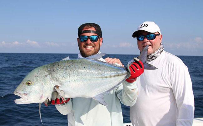 Blue Fin Trevally Sri Lanka Fishing Report