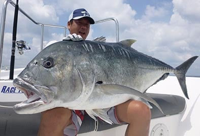 Look at the size of that GT's Mouth Sri Lanka Fishing Report