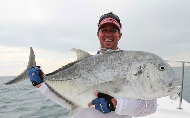 Happy Angler with his GT Sri Lanka Fishing Report