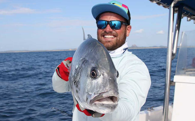 Showing you how wide these GT's are Sri Lanka Fishing Report