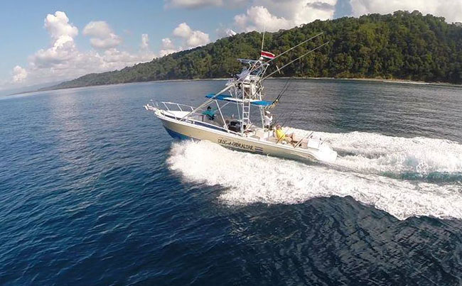 The boats we use in Costa Rica Fishing Report