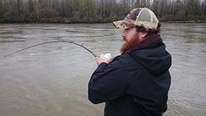 Fishing Report Canada of Clayton playing a fish