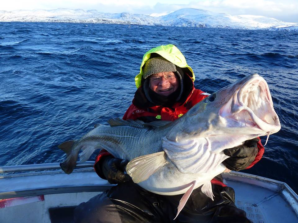 What an amazing Cod in beautiful surroundings for our Fishing Report Norway