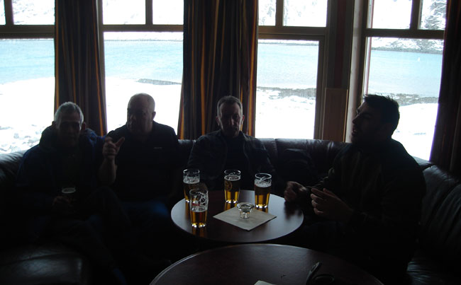 The bar area at Soroya Fishing report Norway