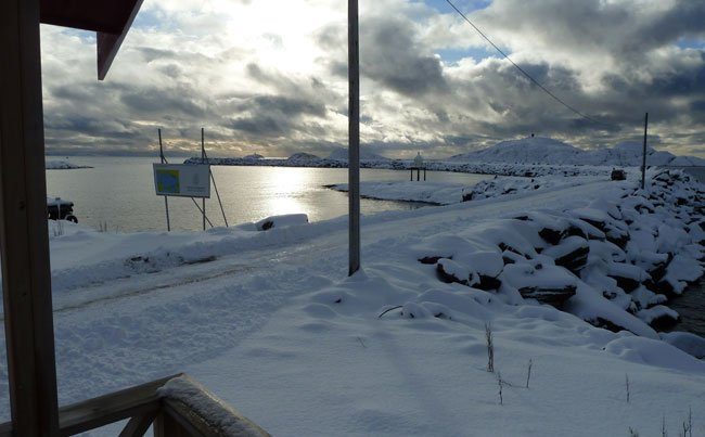 It finally stopped snowing Fishing report Norway and the sun cam out