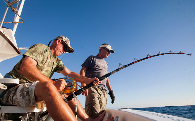 Azores Fishing Report of angler playing Marlin