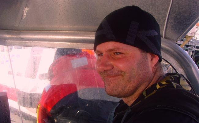 Head Soroya guide smiling Fishing report Norway