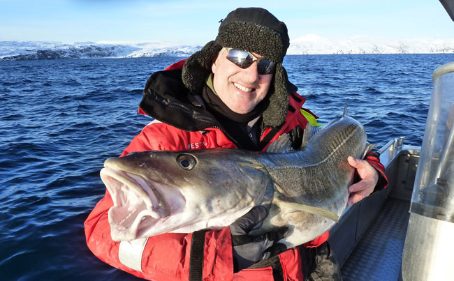 His biggest ever cod caught on my Fishing report Norway