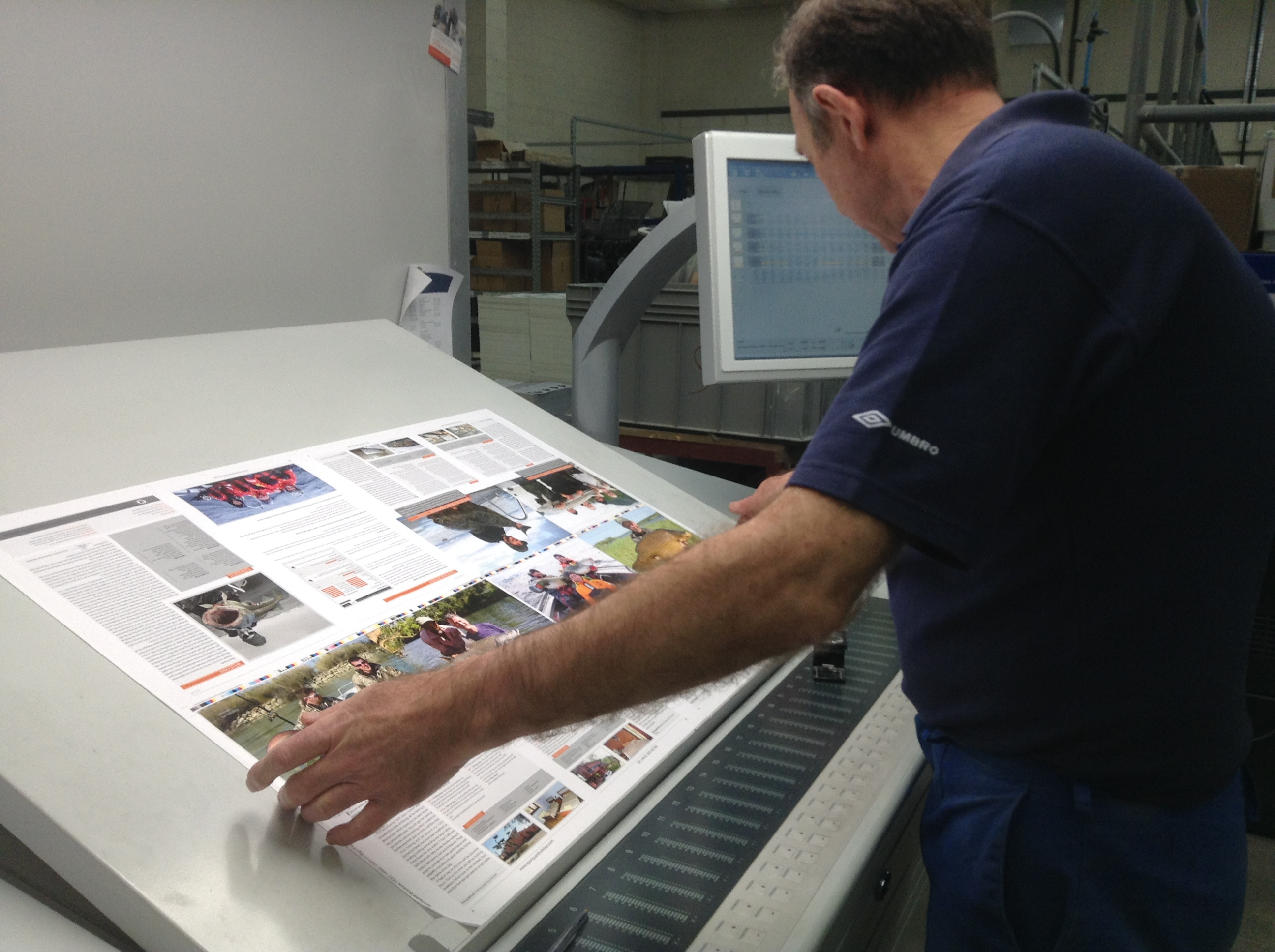 Our Sportquest Brochure being printed
