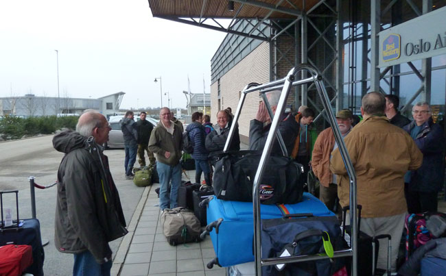 Norway Fishing Report of the guys standing outside of the best western hotel oslo