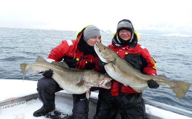 Man kissing his Cod Norway Fishing Report