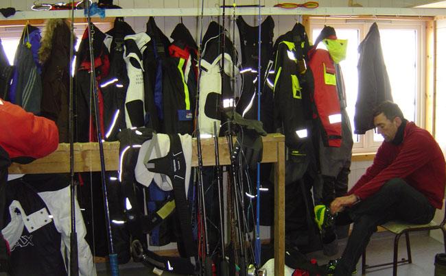 The dry room in Soroya Norway Fishing Report