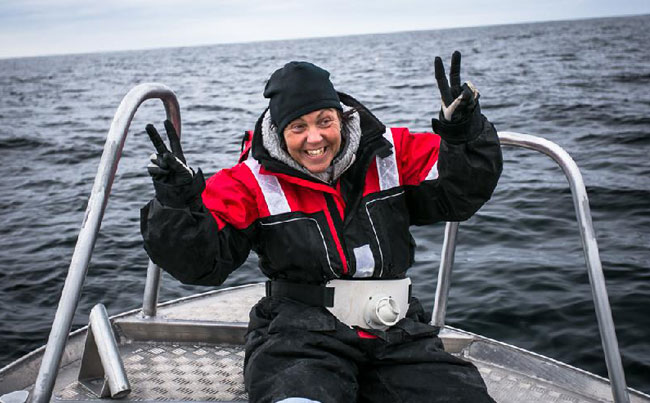 A very happy lady Norway Fishing report