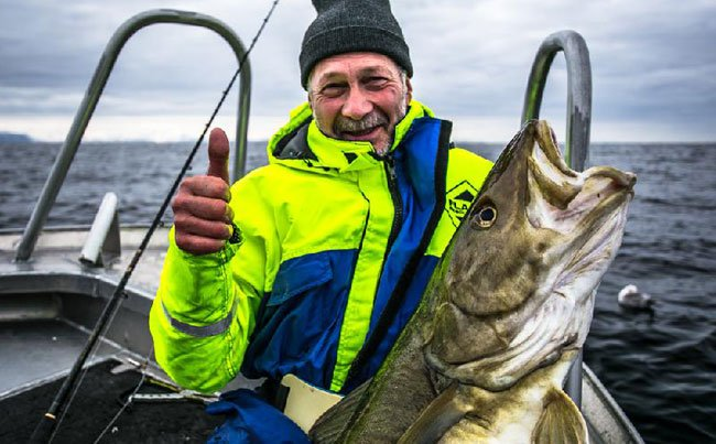 Thumbs up from a happy fisherman Norway Fishing report