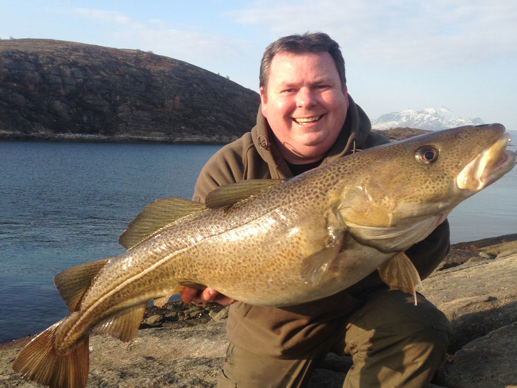 Awesome Shore caught Cod Fishing Report Norway