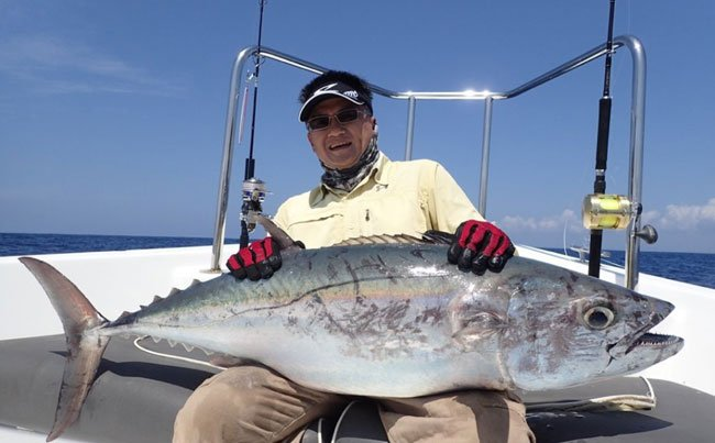 dogtooth tuna are scary looking SriLanka Fishing Report