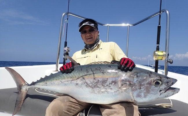 dogtooth tuna are scary looking SriLanka Fishing Report