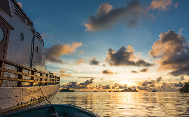 View of stunning sunset Indonesia Fishing Report