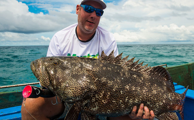 Indonesia Fishing Report of a popper caught Grouper