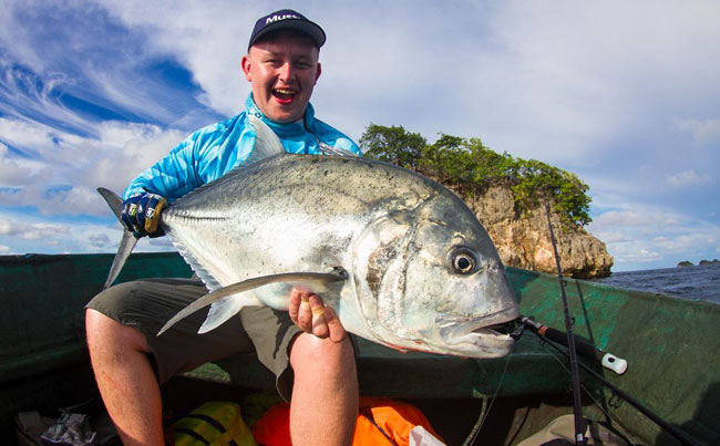 Lovely GT from Indonesia Fishing Report