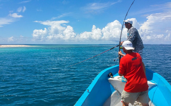 casting poppers is hard work Indonesia Fishing Report