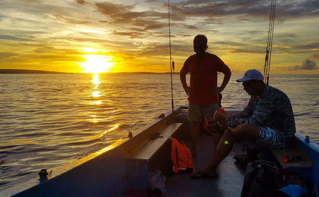 Sunset in our Indonesia Fishing Report