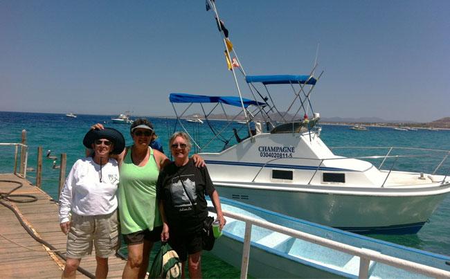 Three happy women fishing Mexico Fishing Report