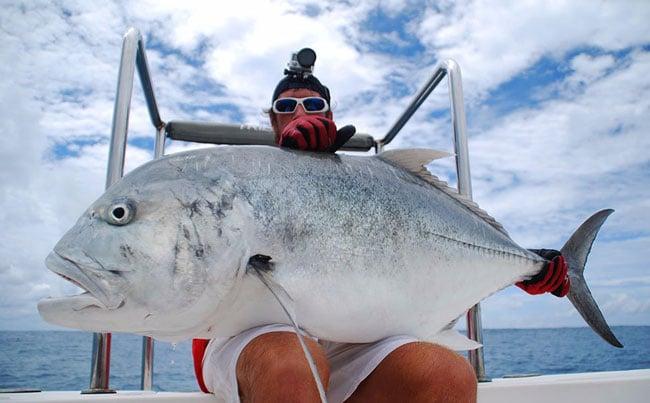 100LB GT caught on Popper rod Sri Lanka Fishing Report