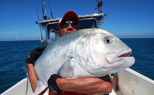 Hugging his best Gt Sri Lanka Fishing Report