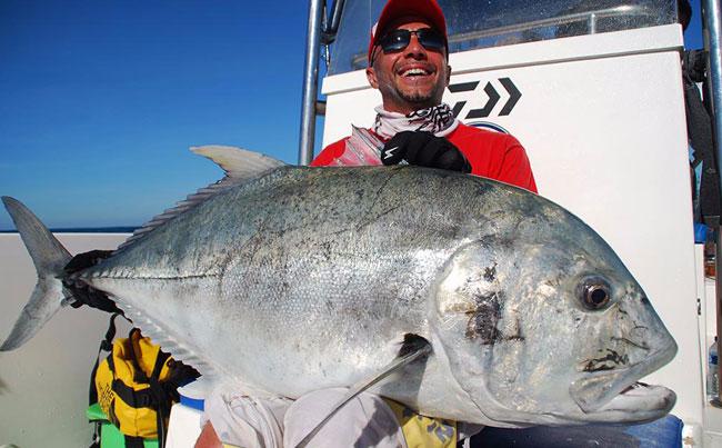 A very happy angler GT Sri Lanka Fishing Report