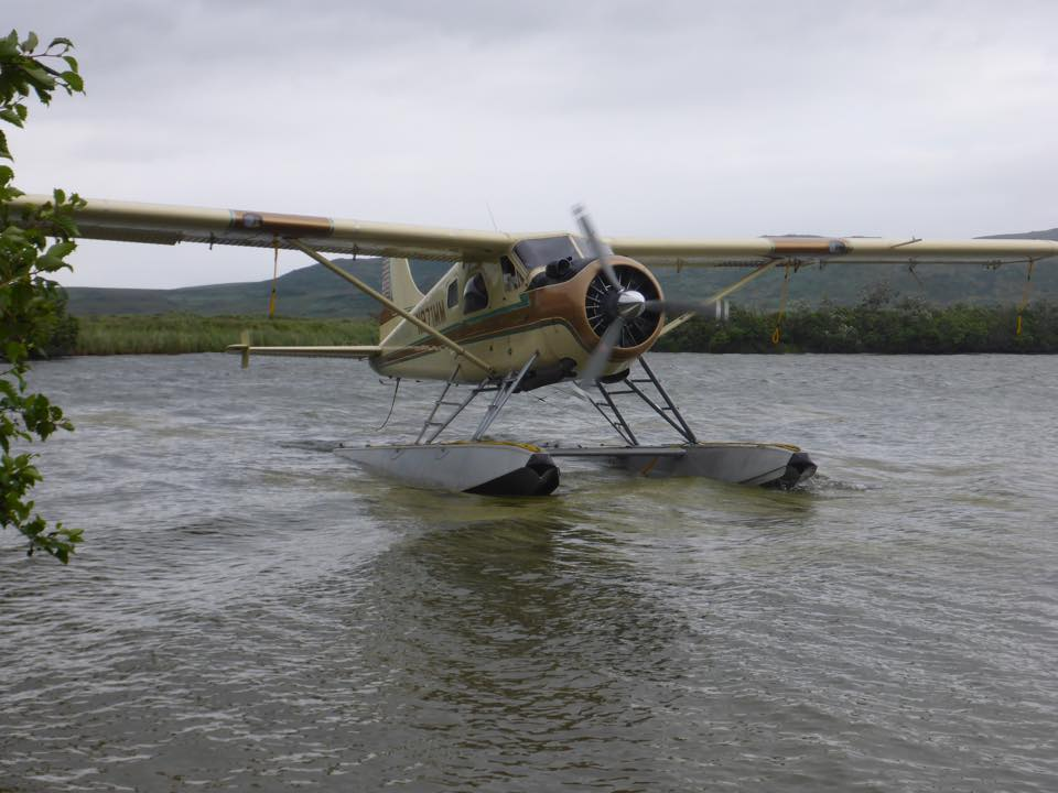 float plane ready to take you out fly fishing for salmon