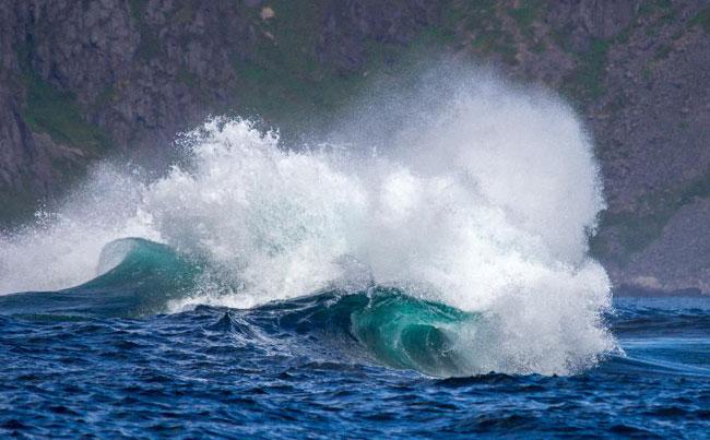 Big waves in my Fishing Report Norway from Lofoten Islands Norway