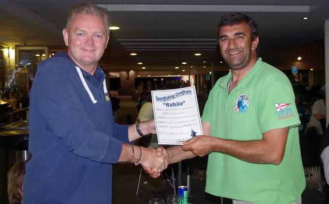 Azores fishing report award ceremony