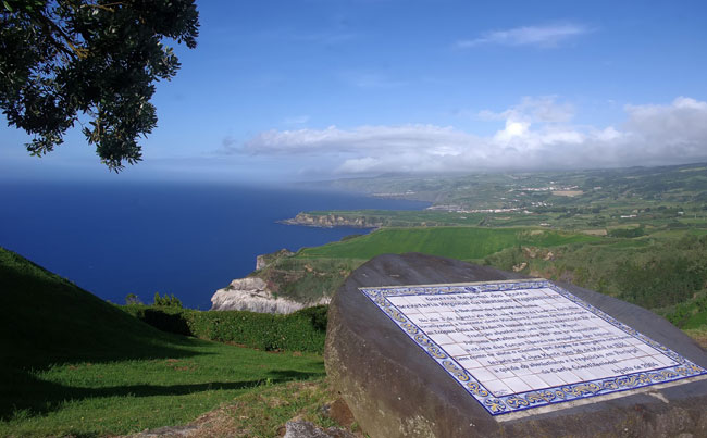 Stunning view of the island of the Azores fishing report