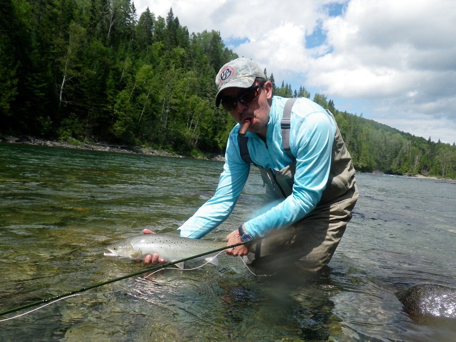 Atlantic Salmon fly fishing in Canada with Sportquest Holidays