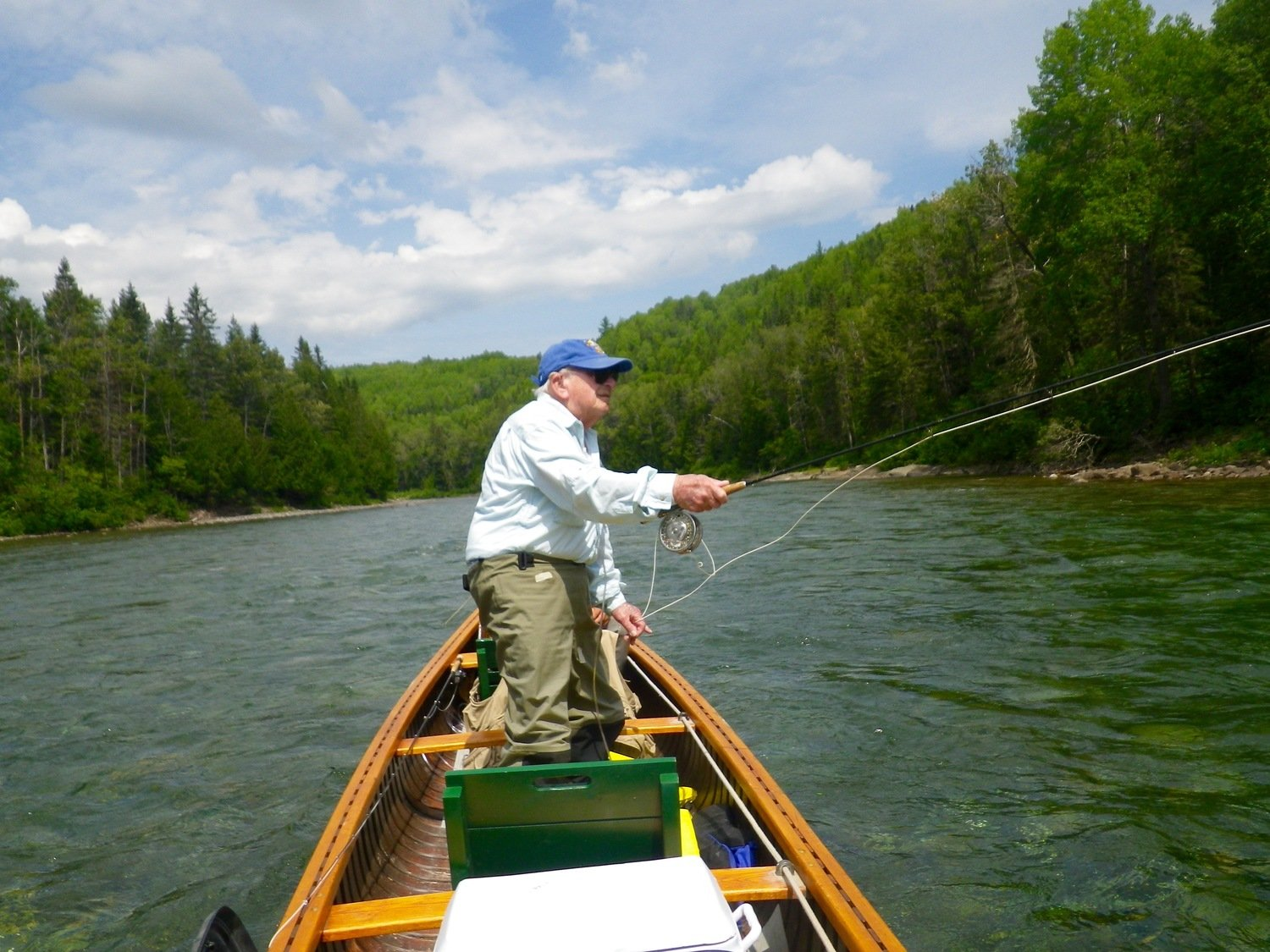 Fly fishing on the Bonaventure Canada