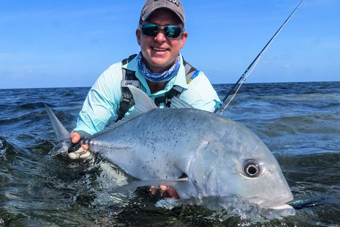 A customer with just one of the many GT'S from this weeks farquhar fishing report