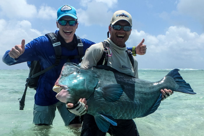 Another big parroted bumpy from our Farquhar fishing report