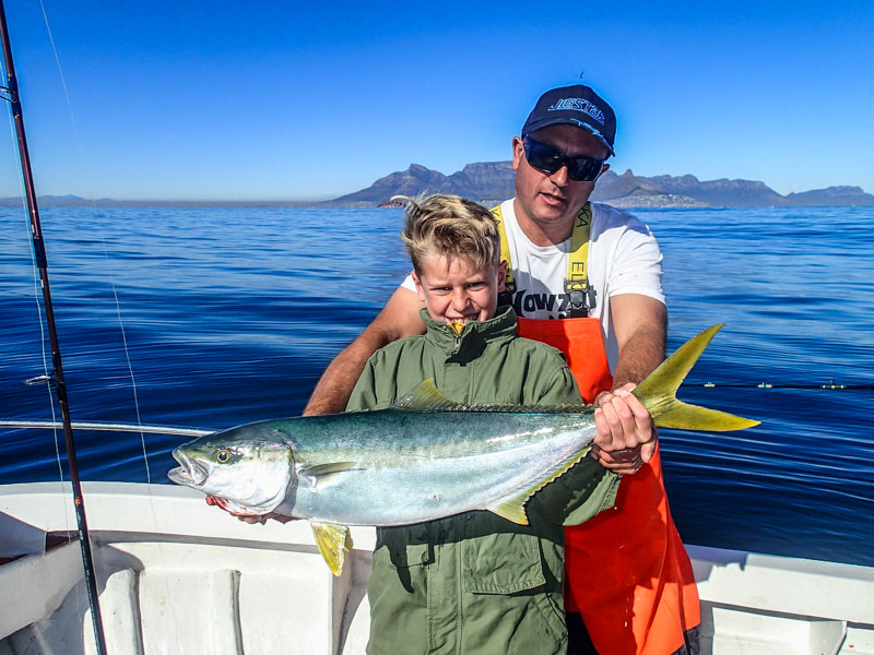 Child with first Yellowfin Tuna