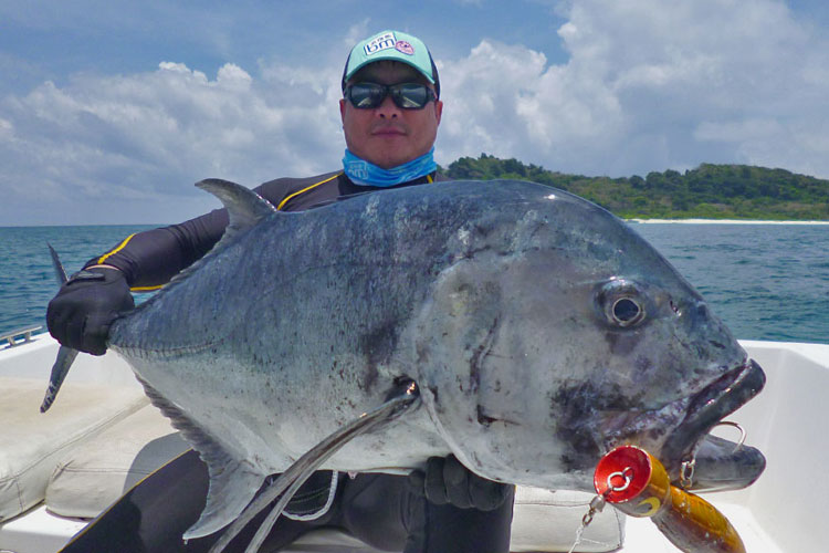 Two Personal Best GT's Andaman Fishing Report