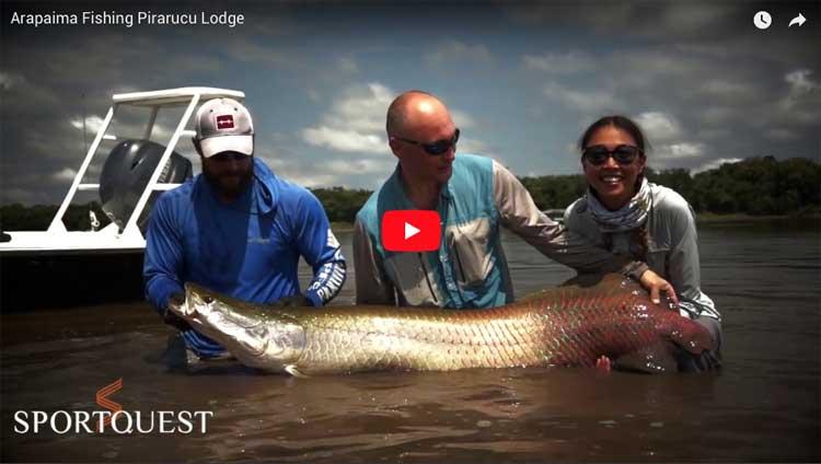 Fly fishing for Giant Arapaima Fishing