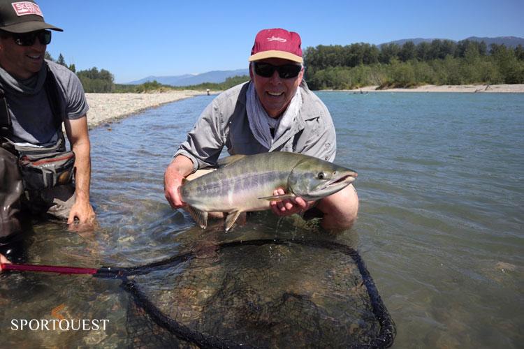 Salmon fishing report Kalum River Lodge day 1