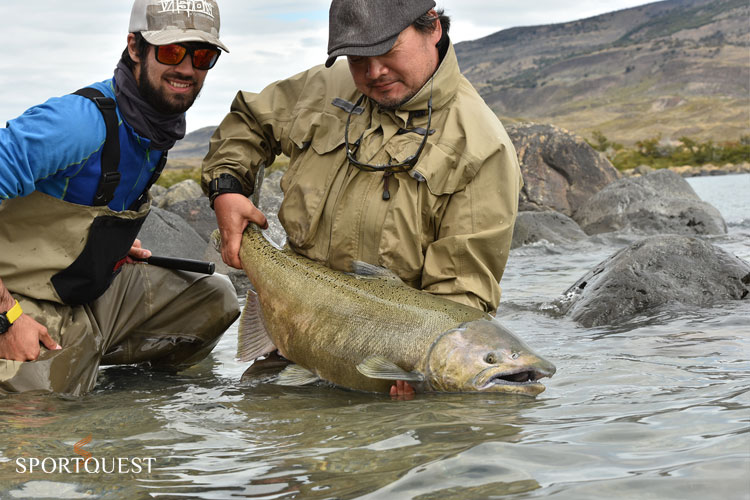 Caterina River King Salmon Fly Fishing Argentina