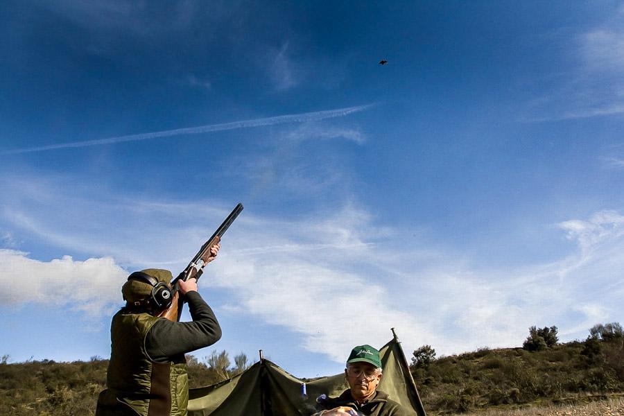 Partridge Shooting Tarancon Spain