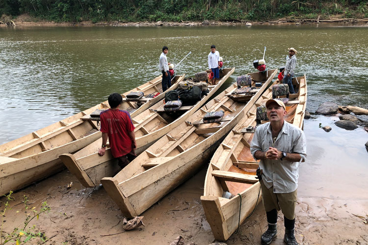 Handmade canoes crafted by the locals of Bolivia